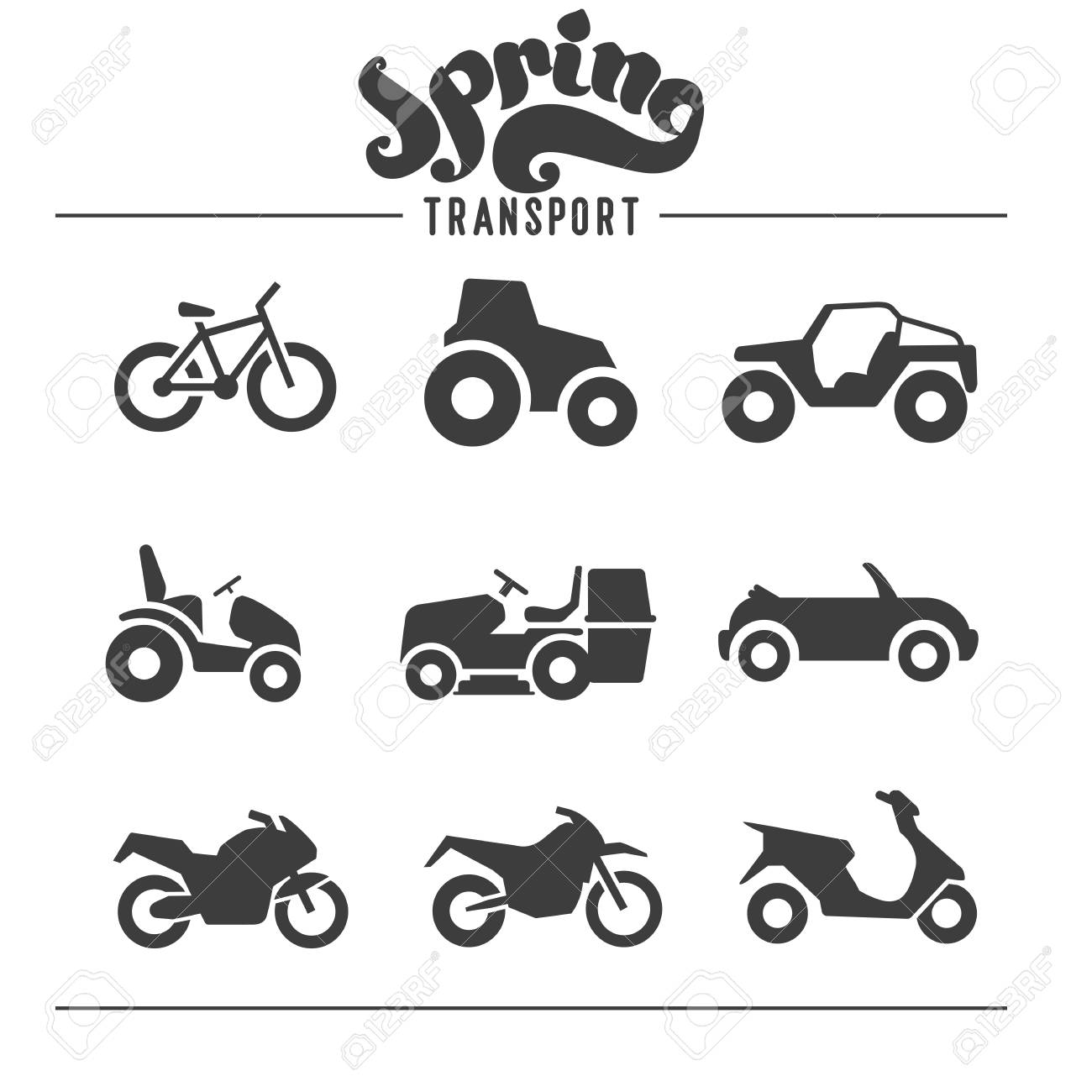 Simple set of auto related vector icons for your design - 72760745