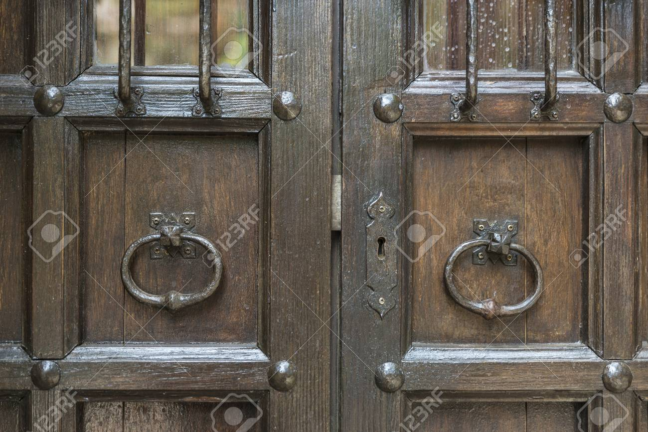 Old barred door in Pals Girona Catalonia Spain Stock Photo - 45899800 & Old Barred Door In Pals Girona Catalonia Spain Stock Photo ...