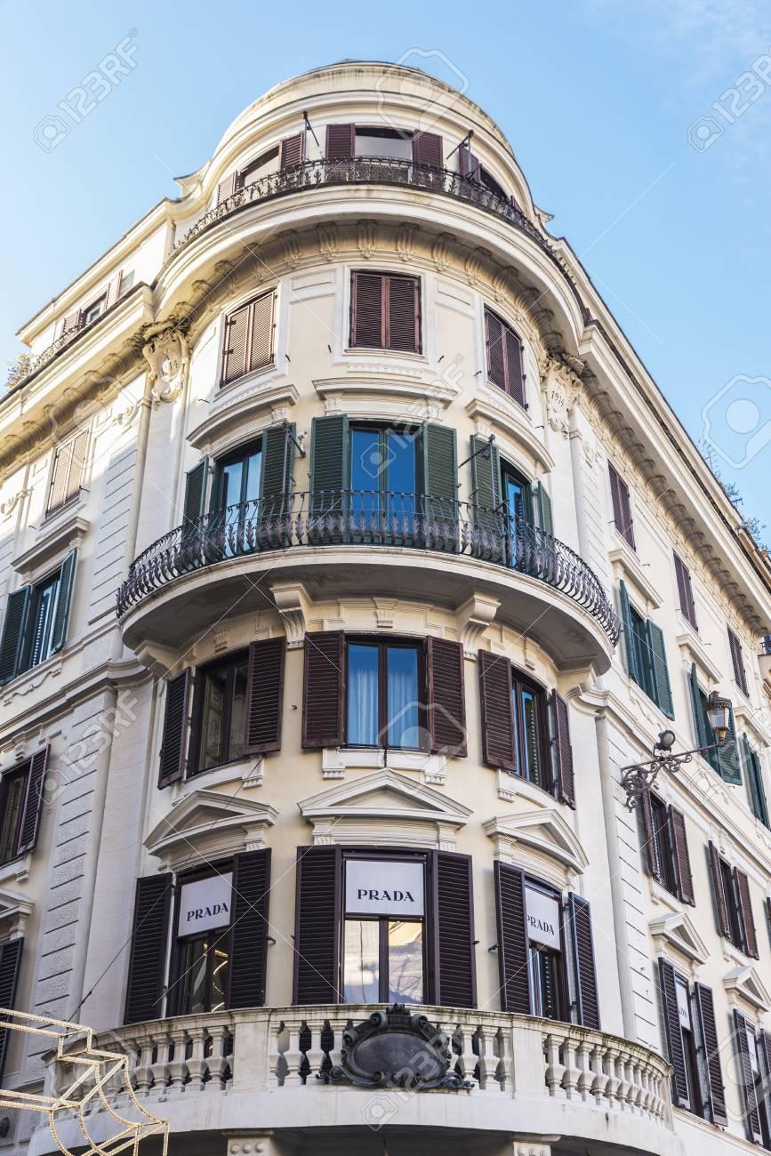 big sale d9b96 28faf Rome, Italy - January 1, 2017: Prada shop located on Via Condotti..