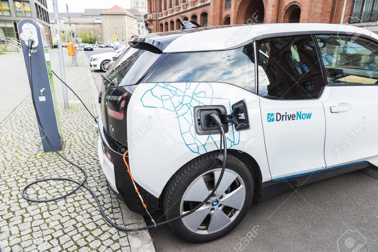 Berlin Germany April 14 2017 Electric Car Model Bmw I3