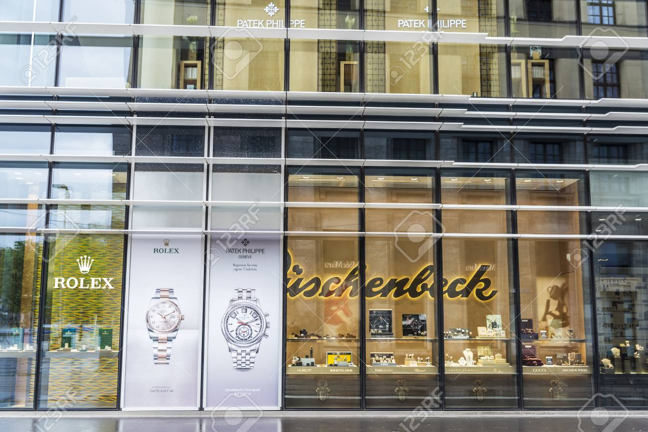 5ddc3db8d014b4 Dusseldorf, Germany - April 16, 2017: Shop or jewelry specializing in  luxury watches