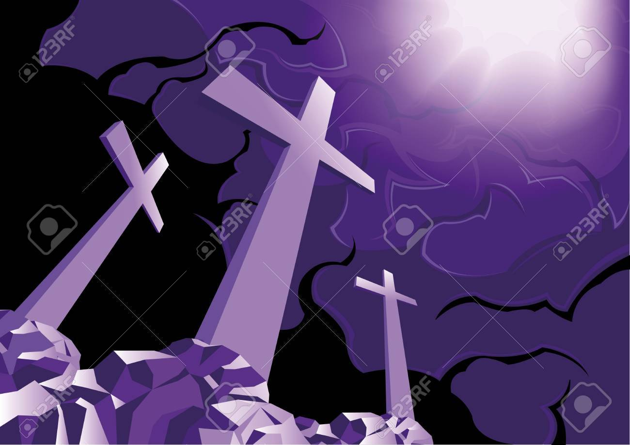 Three Crosses And The Light Of Resurrection Royalty Free Cliparts ...