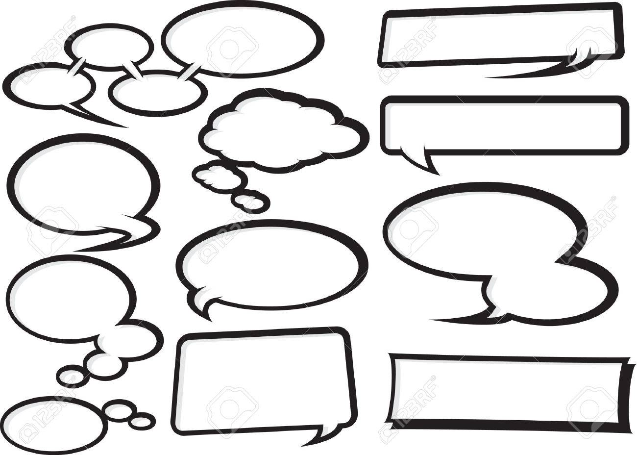 Cool Talk Bubble style speech bubbles