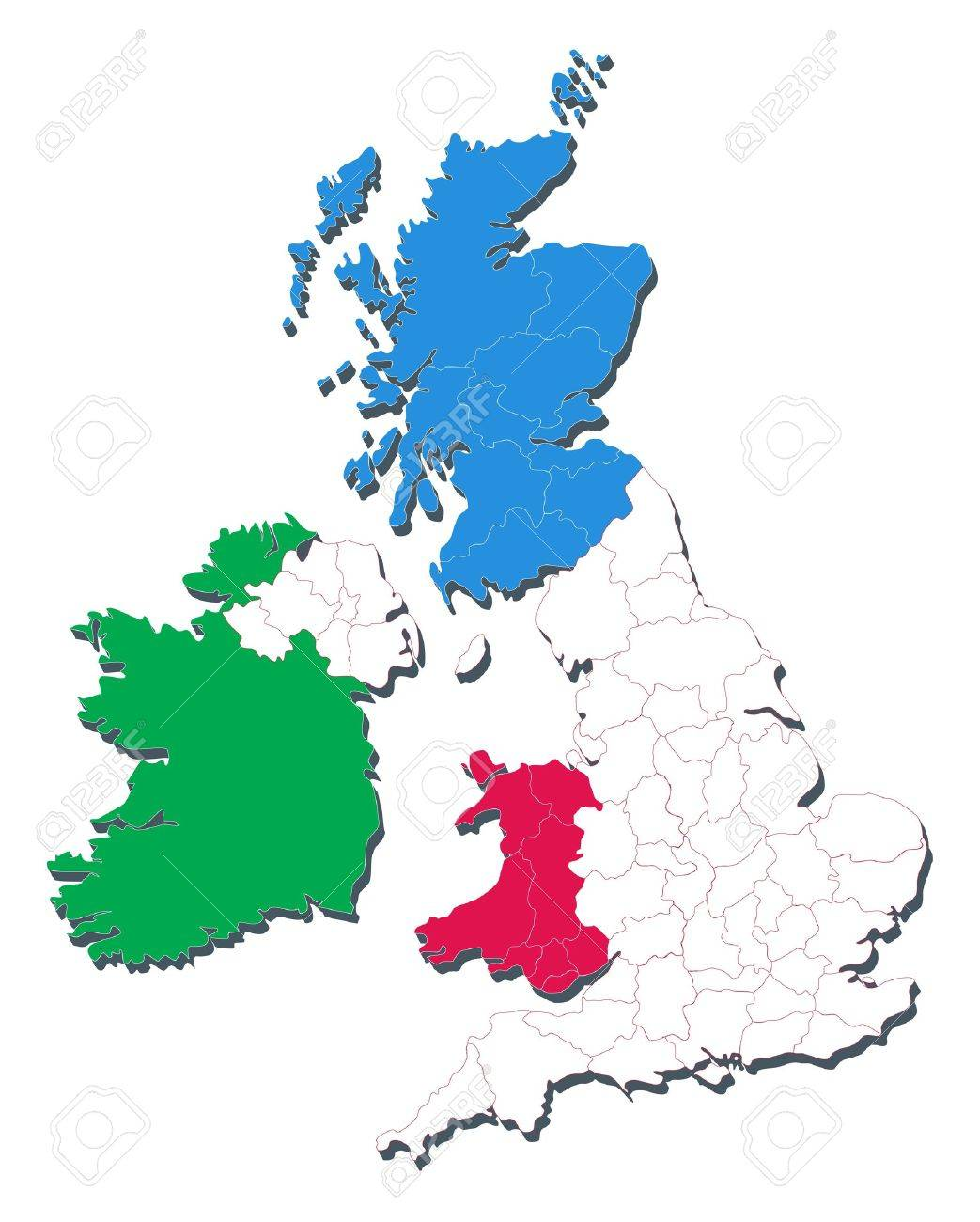 Map of united kingdom including countries and counties royalty free map of united kingdom including countries and counties stock vector 9319973 gumiabroncs