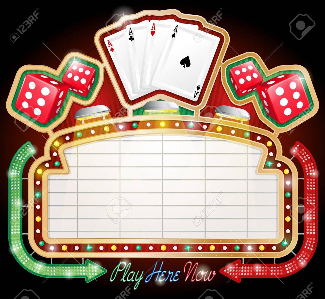 Casino Sign Stock Vector - 13066952