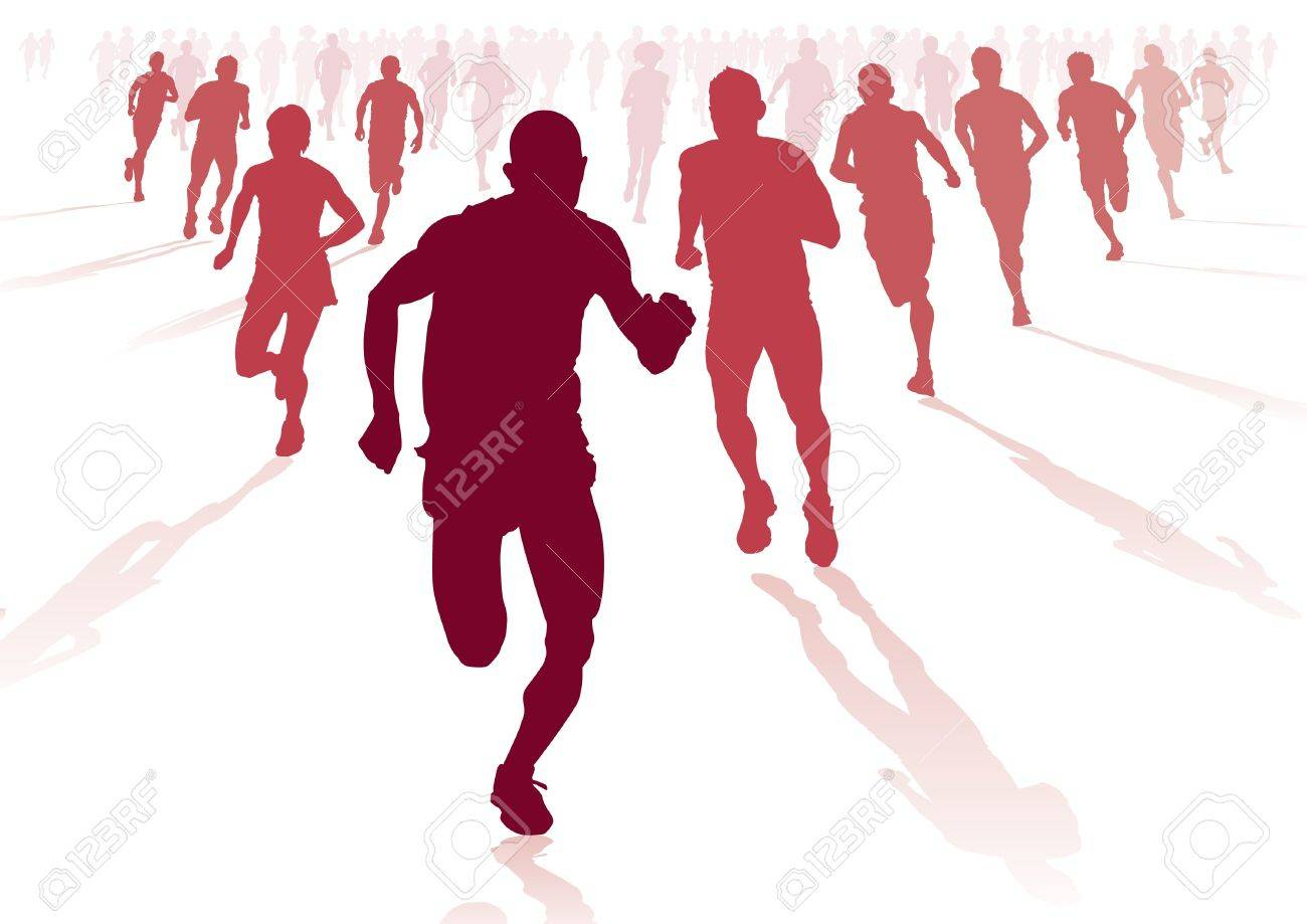Group of Runners Stock Vector - 14509717