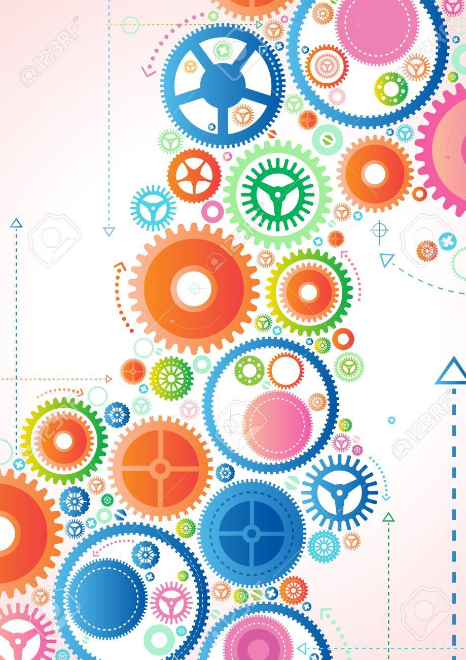Abstract Cogs Stock Vector - 14596485