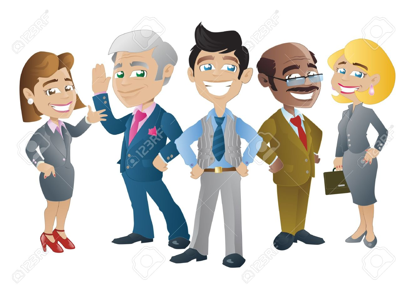 Business People Stock Vector - 15302556