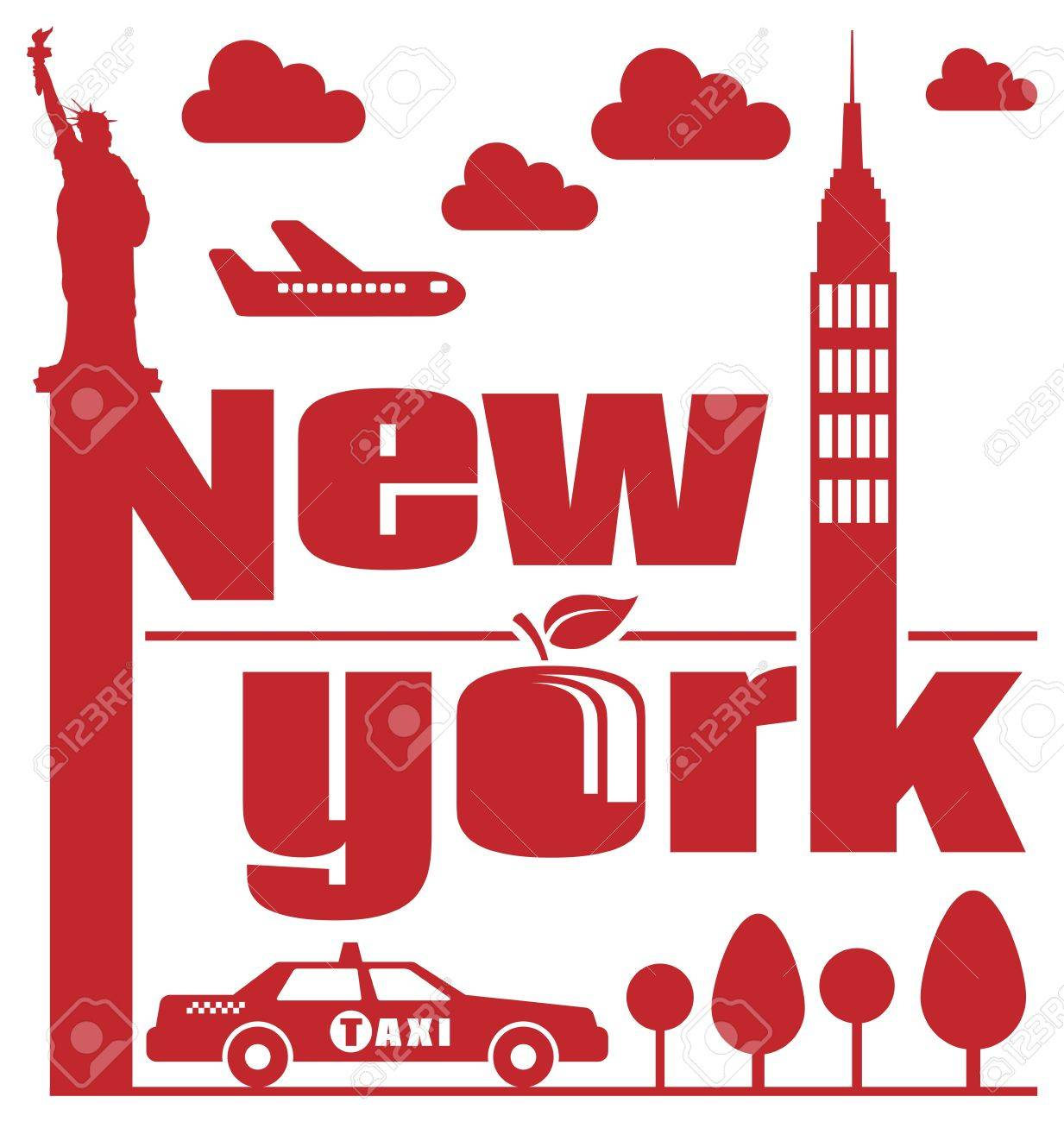 New York Abstract Stock Vector - 16272086