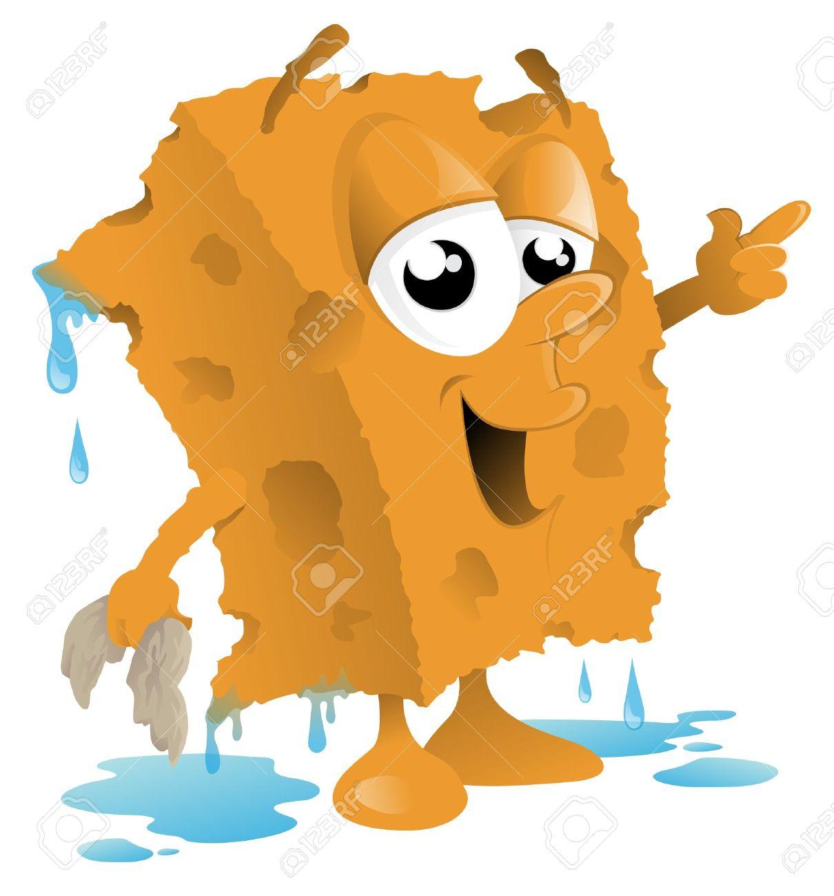 car wash sponge cartoon stock vector 16440794