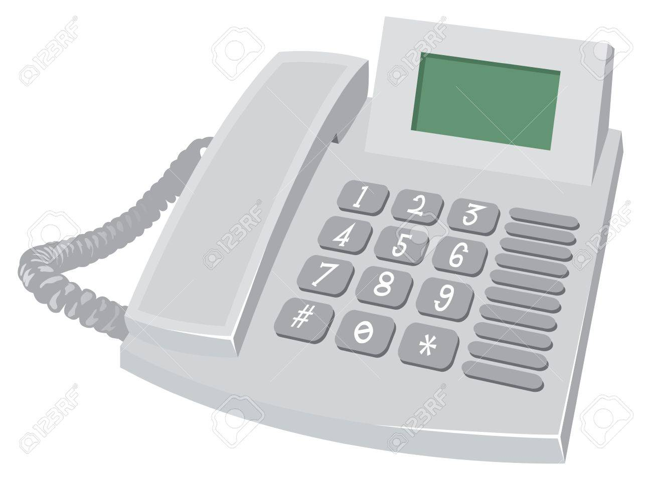 Desk Phone Stock Vector - 17972162