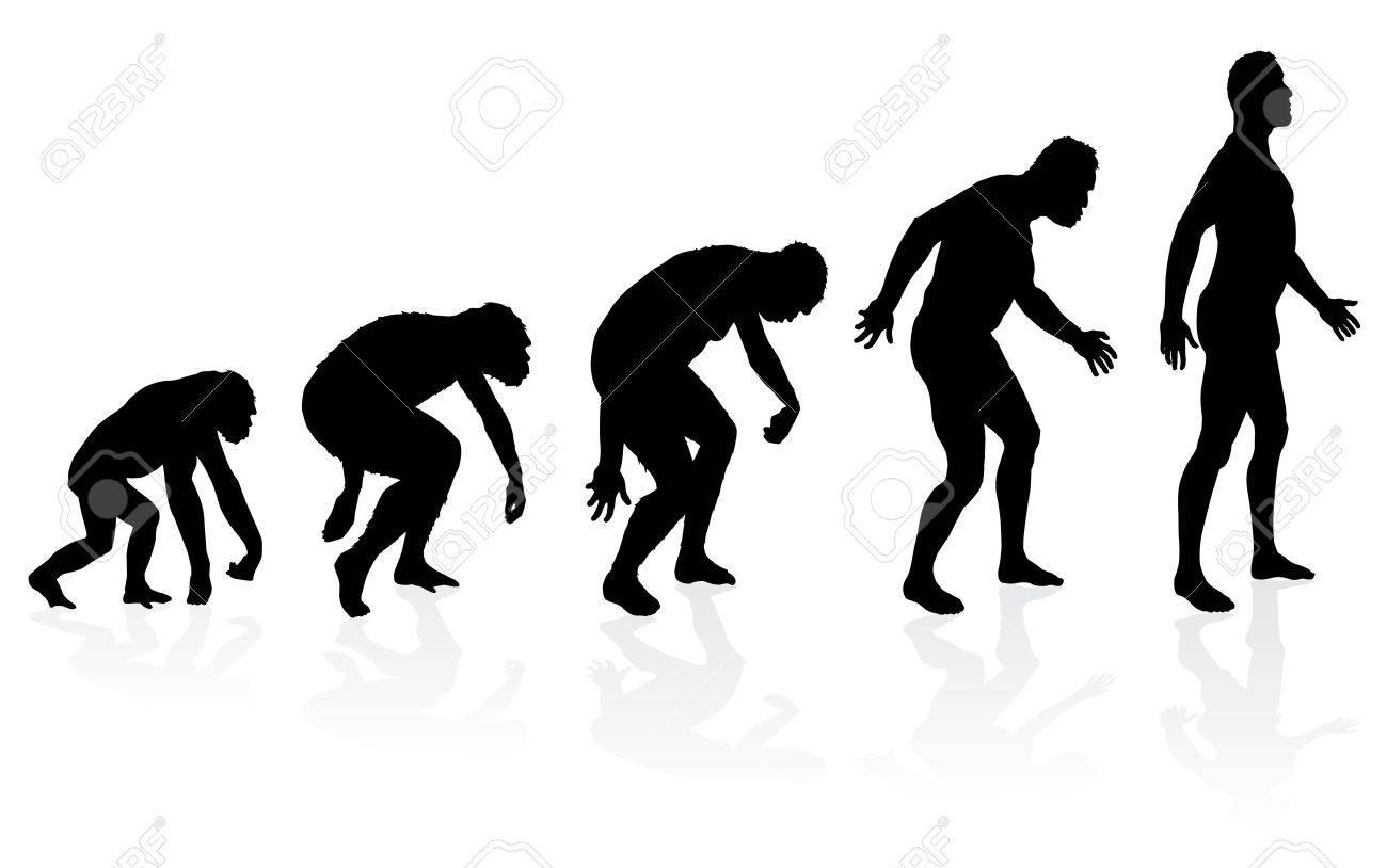 人類の進化 ロイヤリティフリー...