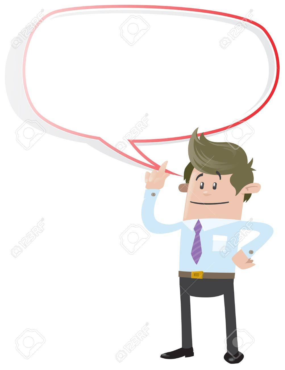 Business Buddy with Speech Bubble Stock Vector - 18818355