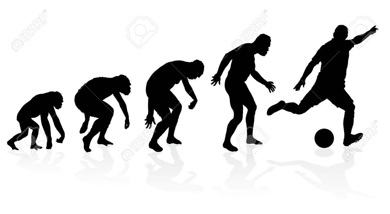 Evolution of a Soccer Player Stock Vector - 21525051
