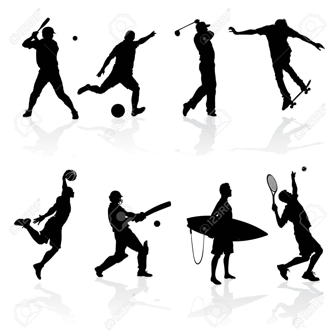 Sporting Silhouettes Stock Vector - 22142653