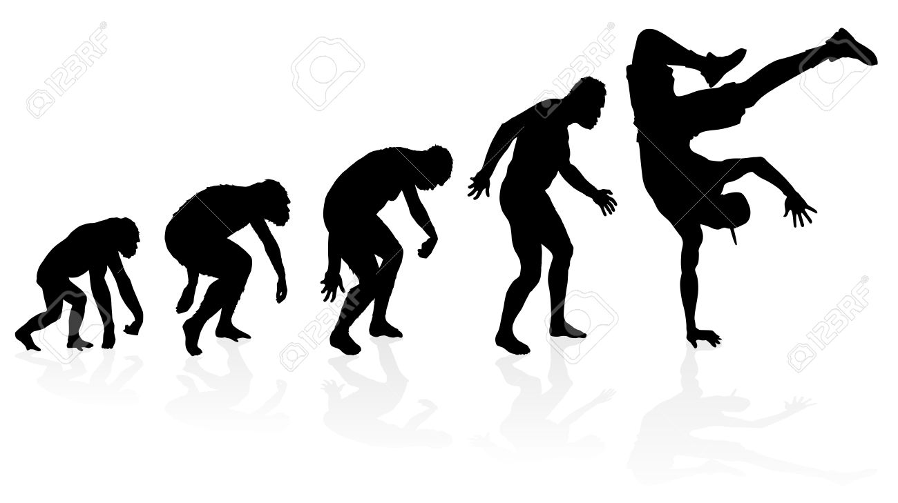 Evolution of the B-boy Dancer Stock Vector - 22140889