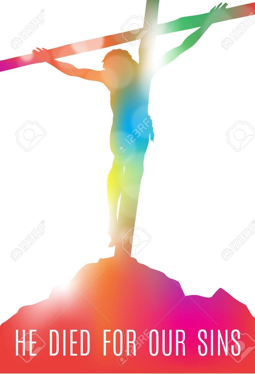 Beautiful Illustration Of Jesus Christ Crucified On The Cross ...