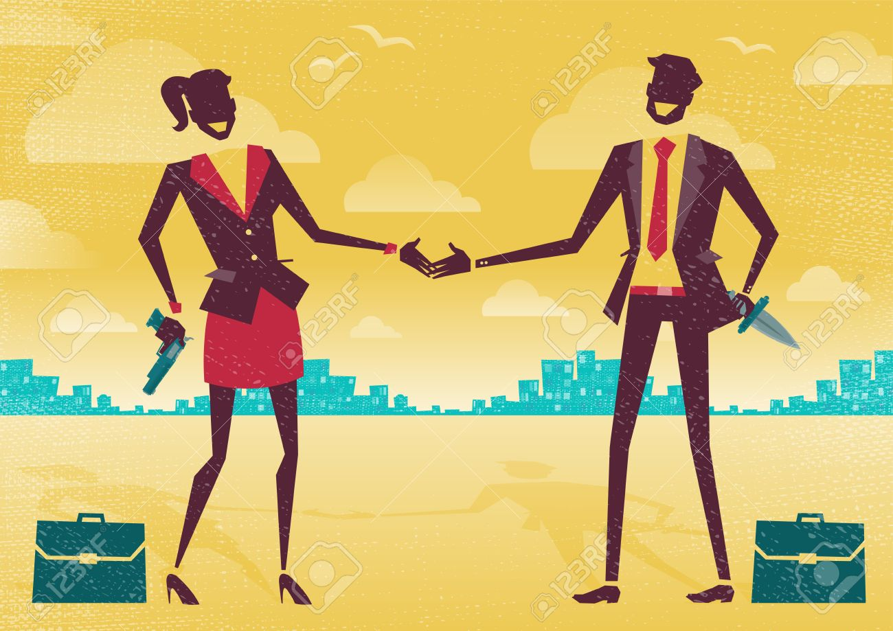 great illustration of two business people enjoying a friendly great illustration of two business people enjoying a friendly handshake to seal the deal only the