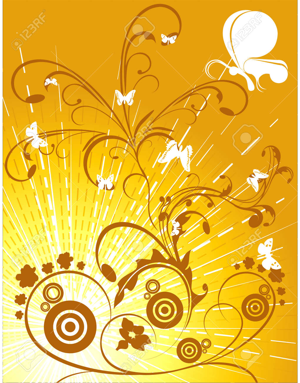 vector floral illustration abstract art beautiful background Stock Vector - 2989000