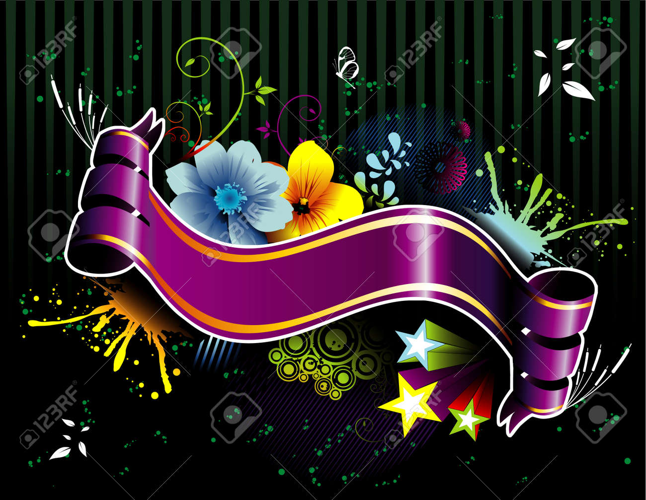 abstract banner vector background composition illustration 2d frame Stock Vector - 3293236