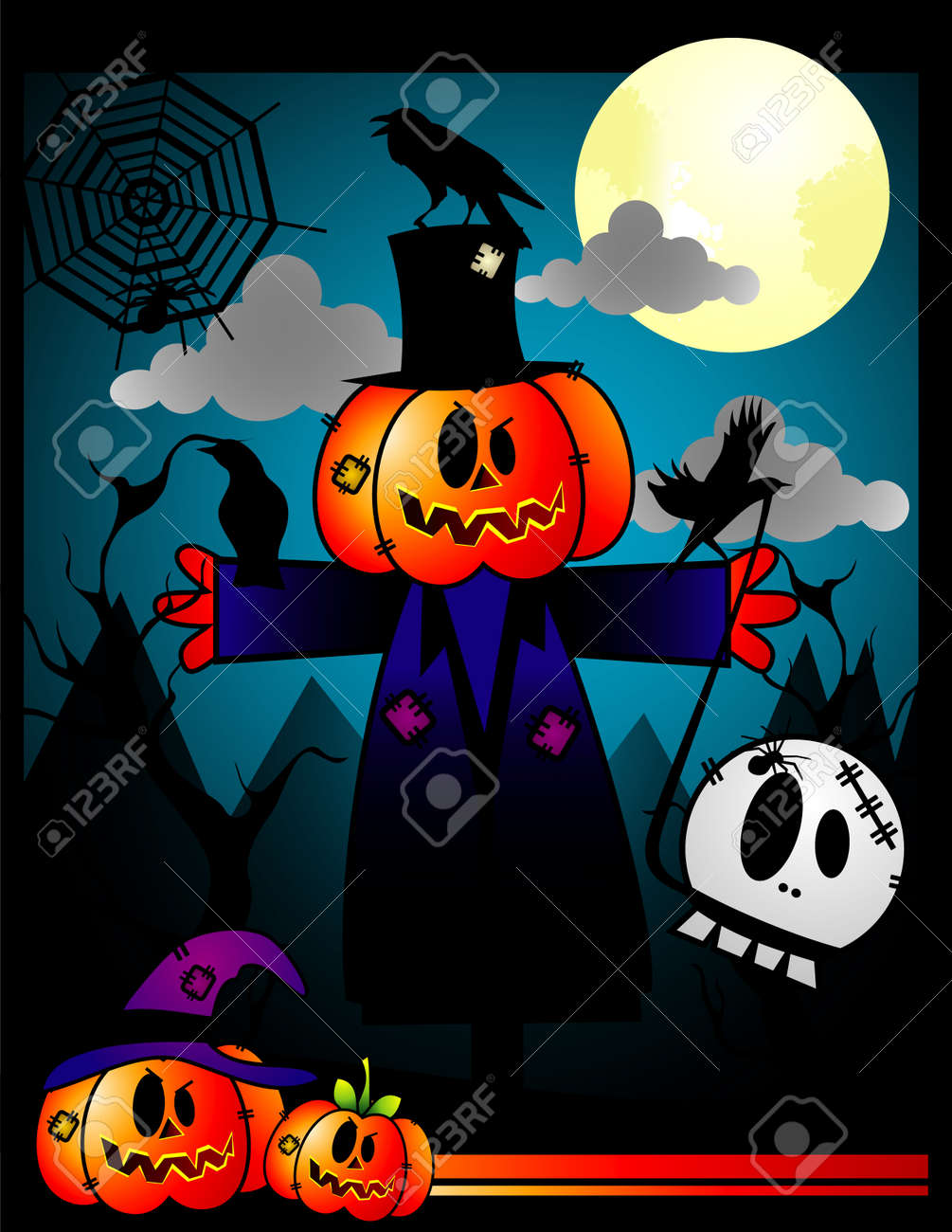Vector illustration of halloween character and cool background Stock Vector - 3691816