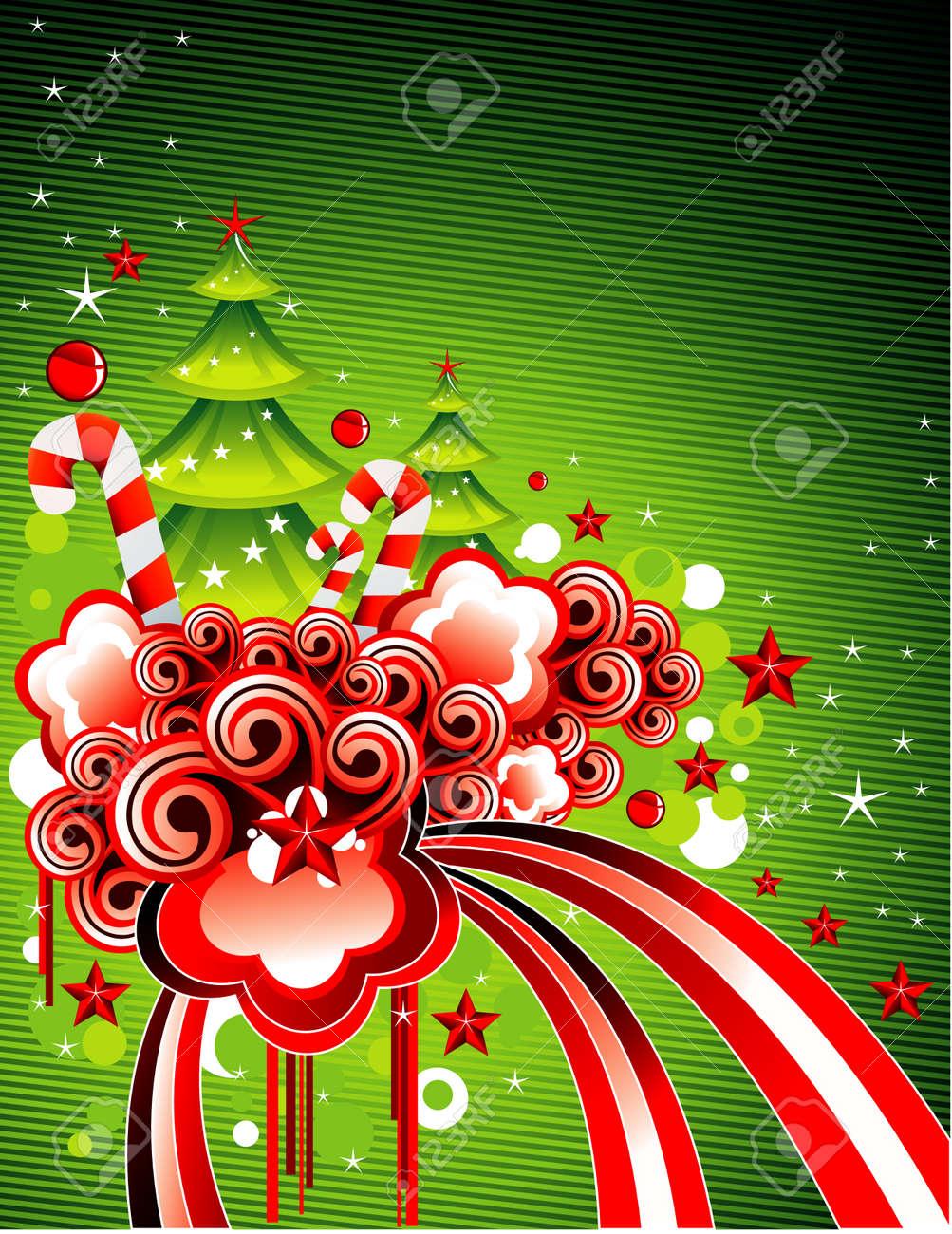 Vector illustration of fantasy shapes for christmas celebration Stock Vector - 3796241