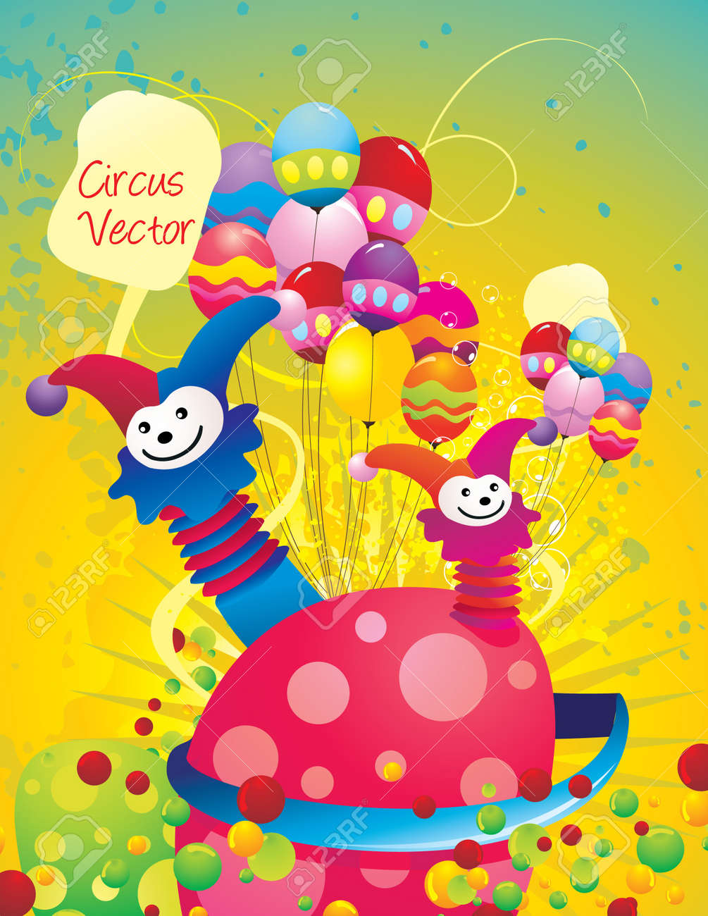 carnival circus abstract vector Stock Vector - 9478801