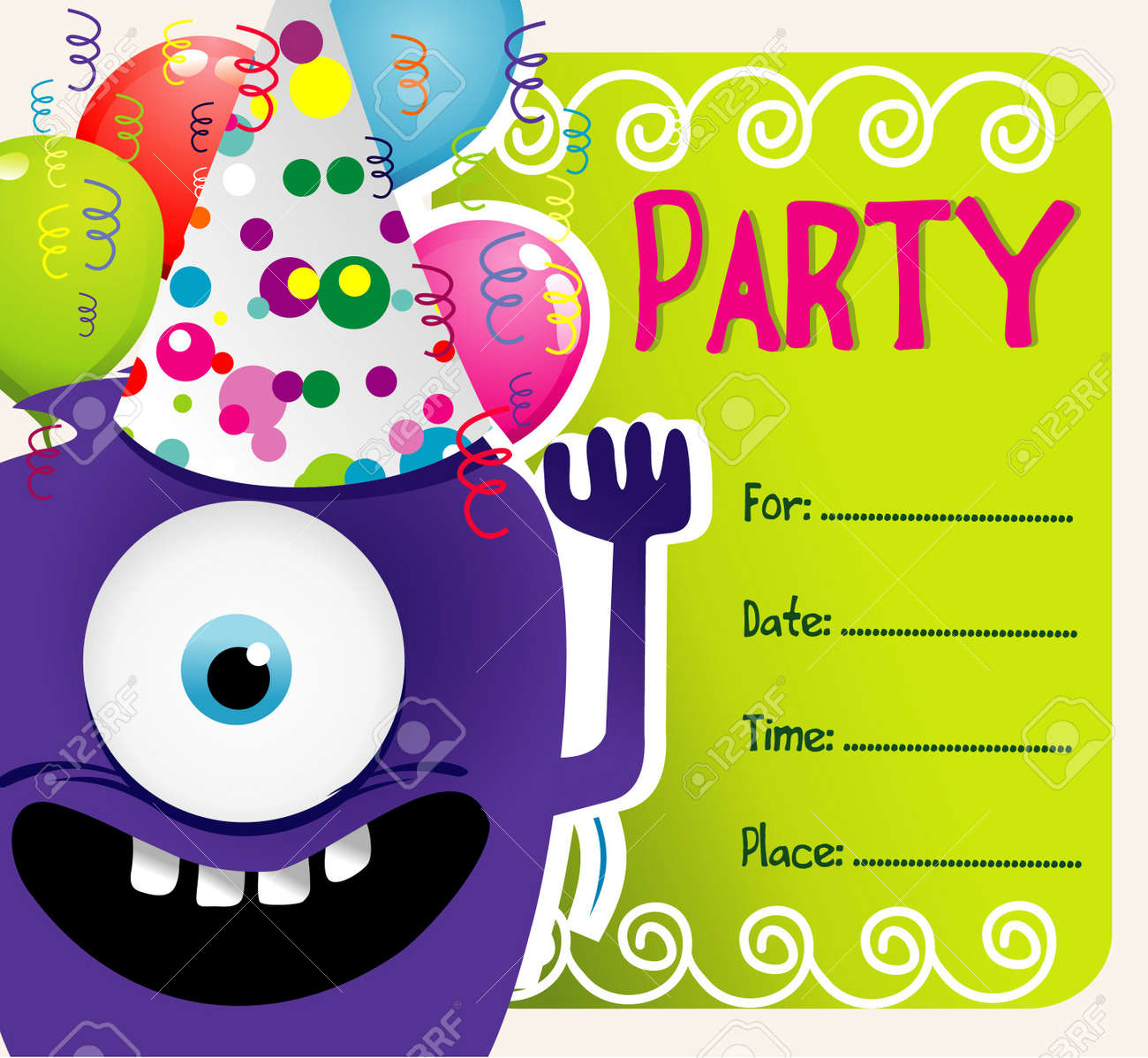 party vector invitation Stock Vector - 11033140