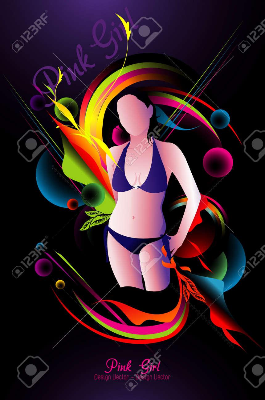 beauty girl vector illustration Stock Vector - 11550774