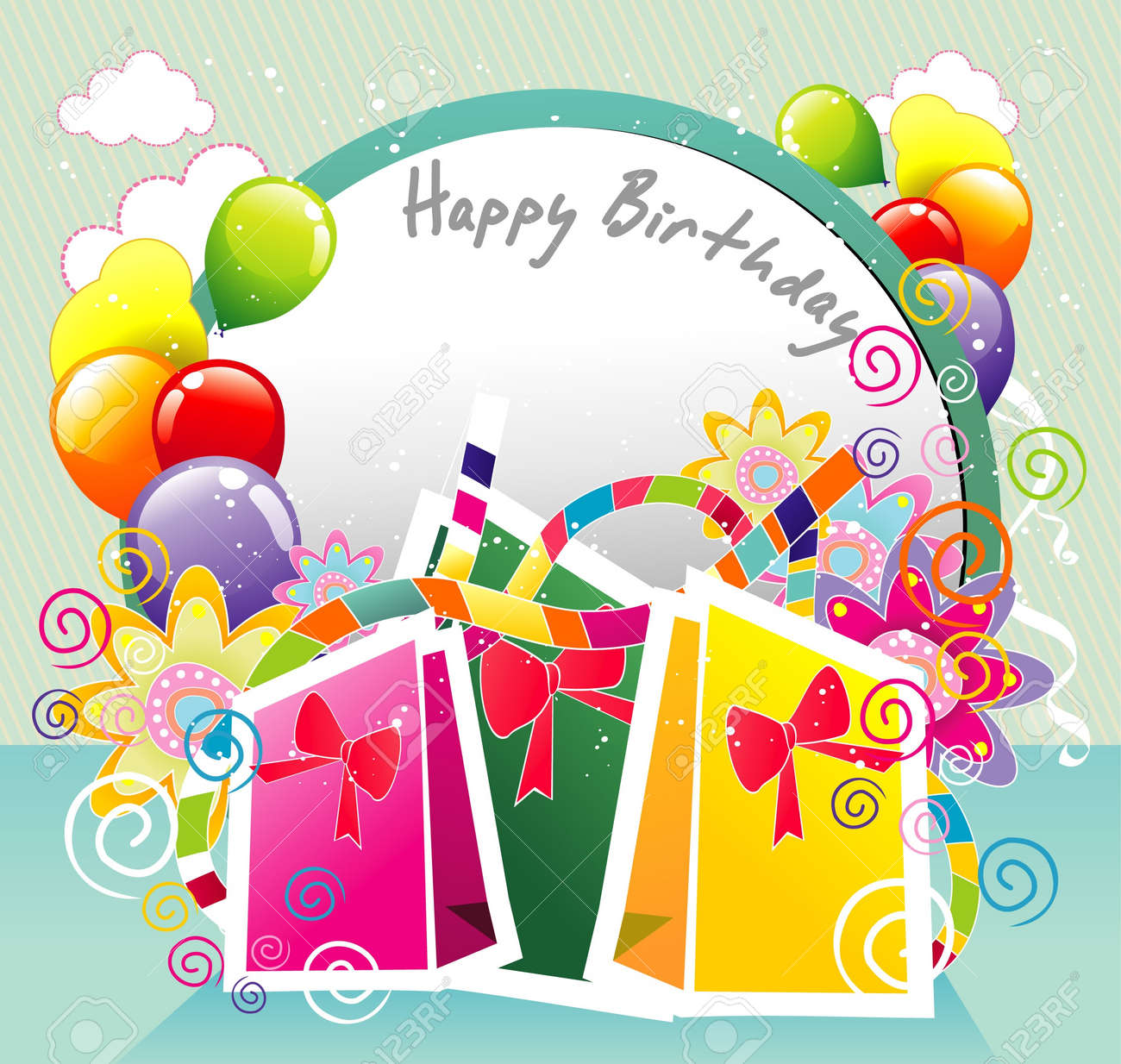happy birthday party Stock Vector - 11818976