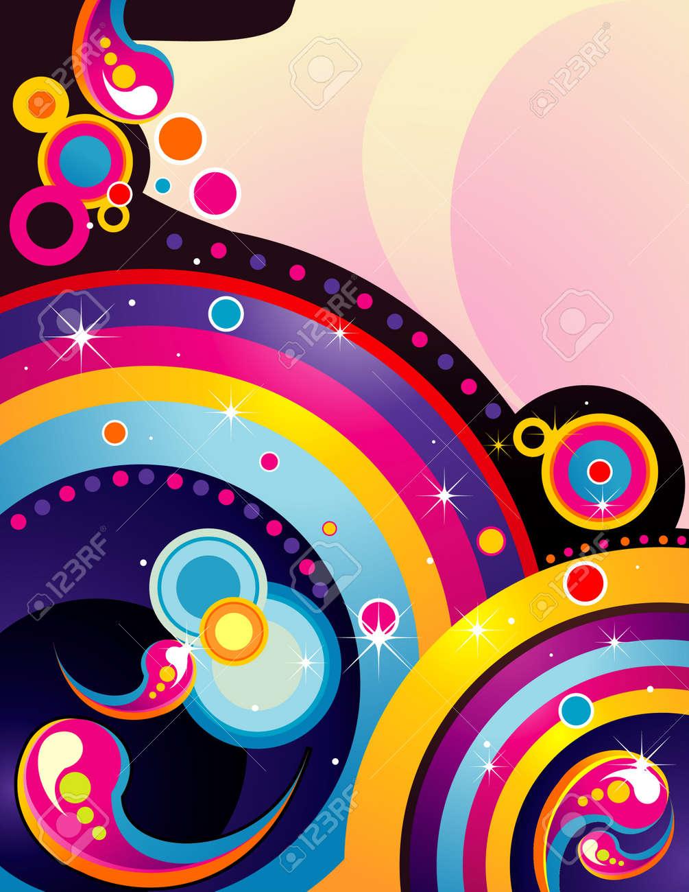 abstract rainbow color vector Stock Vector - 11977993