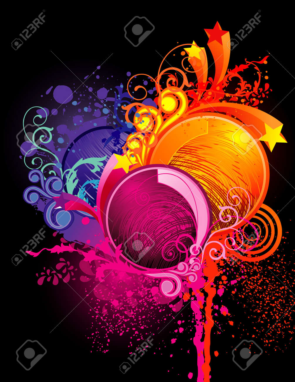 neon color vector illustration Stock Vector - 11977998