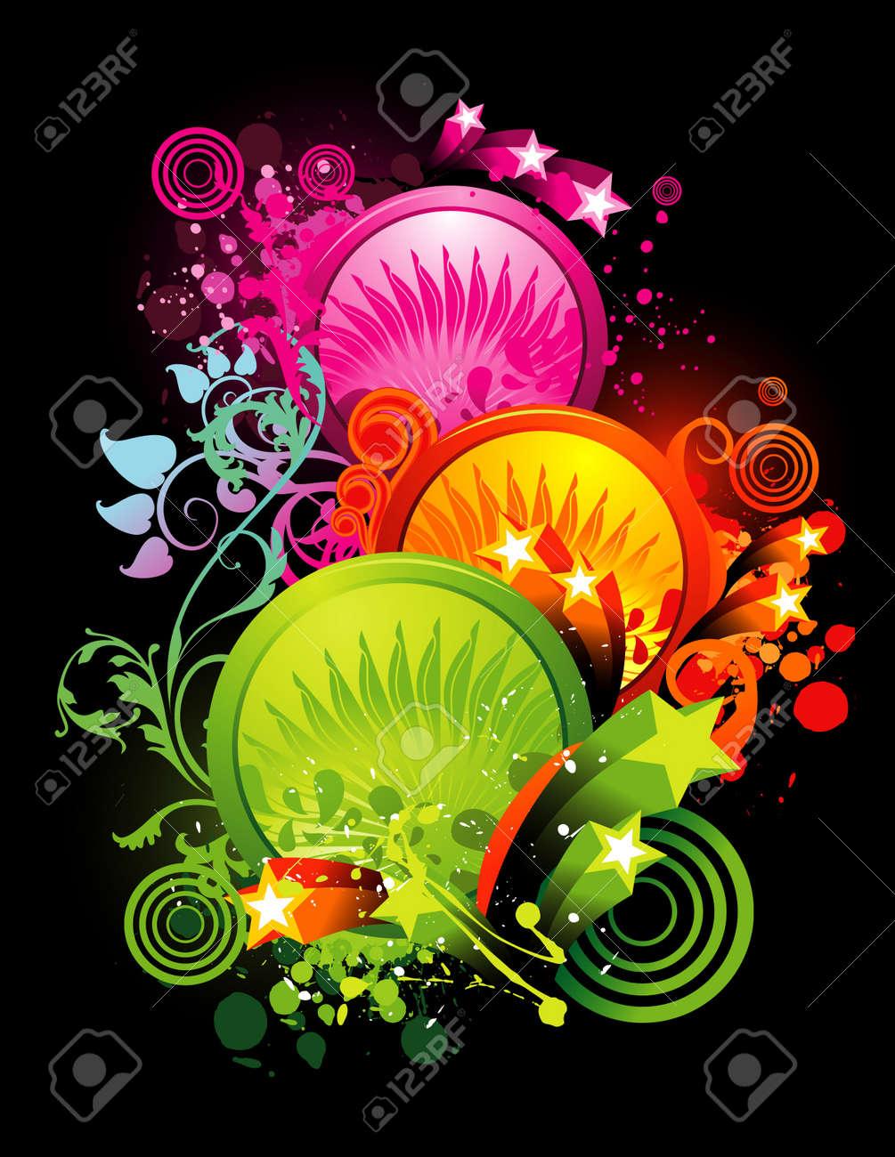 neon color vector illustration Stock Vector - 11977996