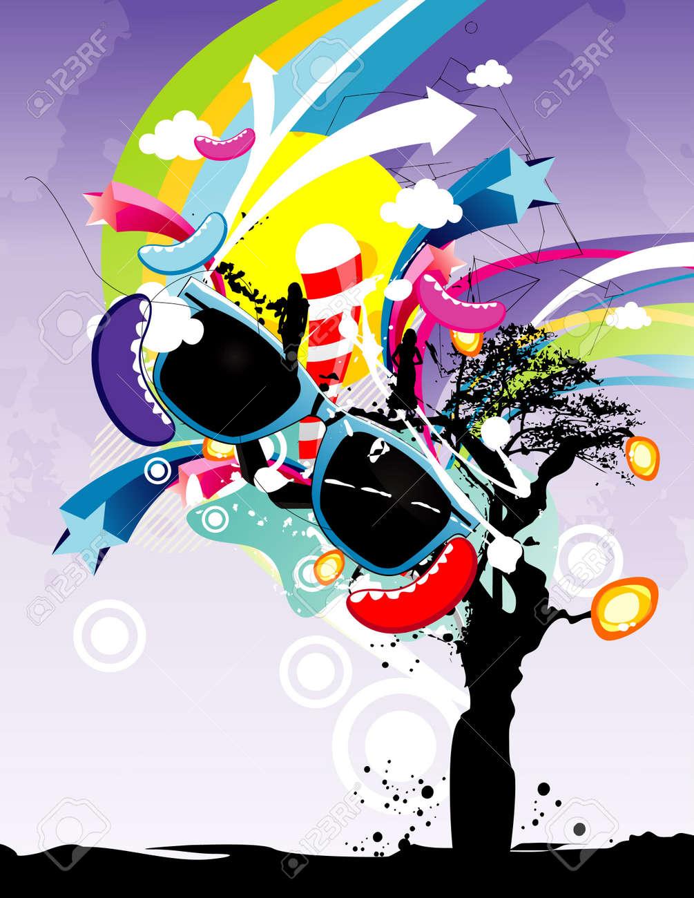 tree fashion vector illustration Stock Vector - 12448444
