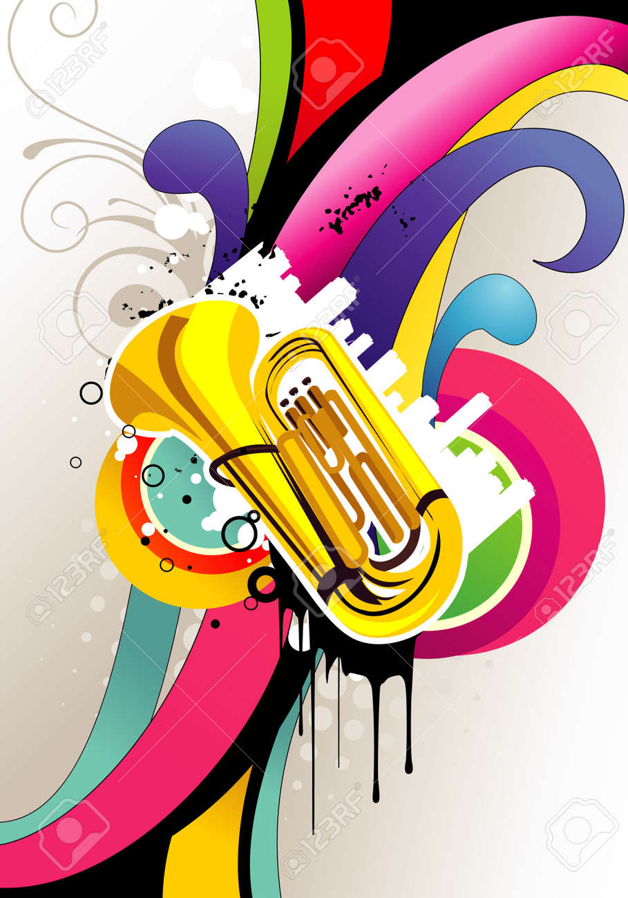 music color vector illustration Stock Vector - 12772692