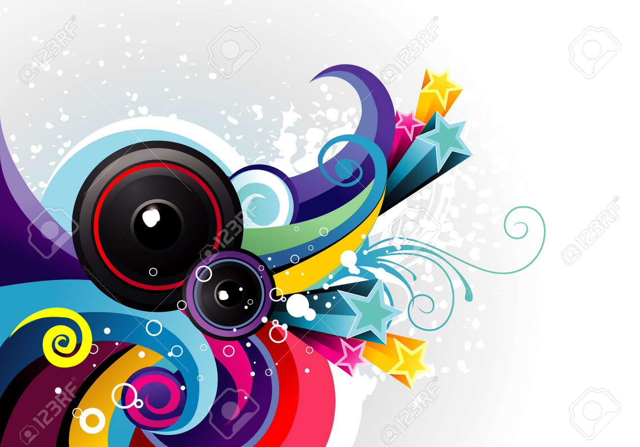 music color vector illustration Stock Vector - 12772695