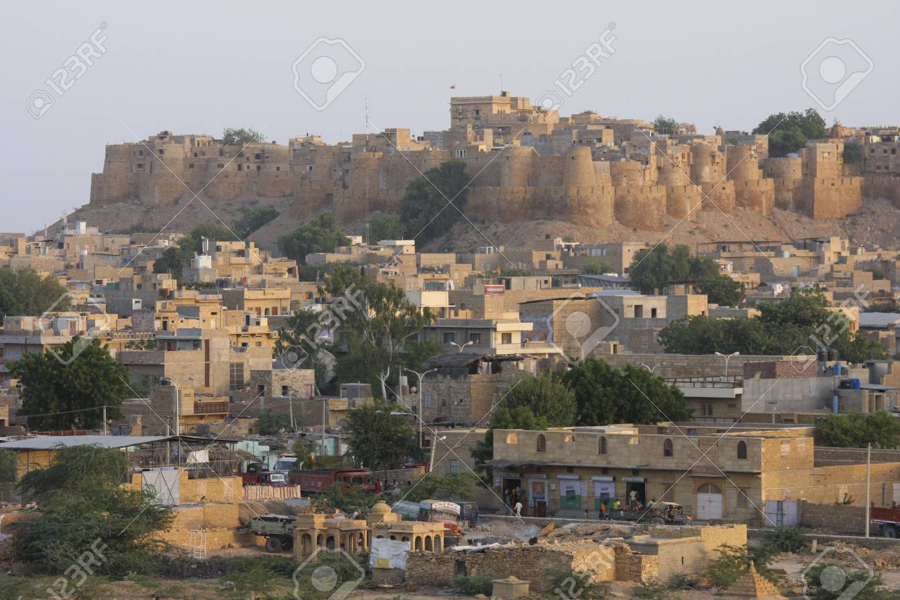 View on the old centre of Jaisalmer in Rajasthan Stock Photo - 3713250