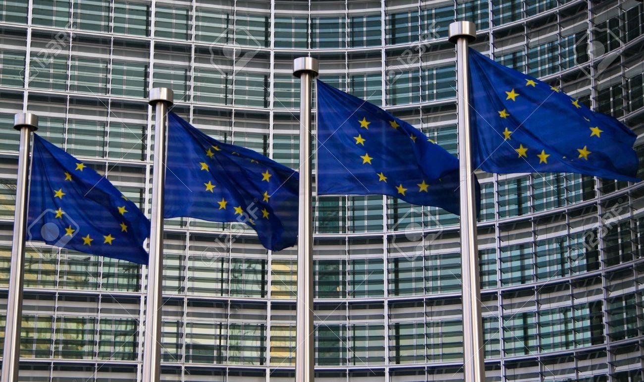 European flags in Brussels - 5939278
