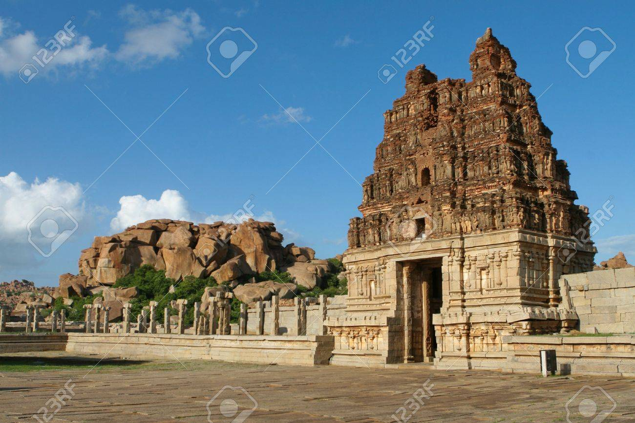 Vittala temple in Hampi, Karnataka province, South India, UNESCO world heritage site. - 6345266