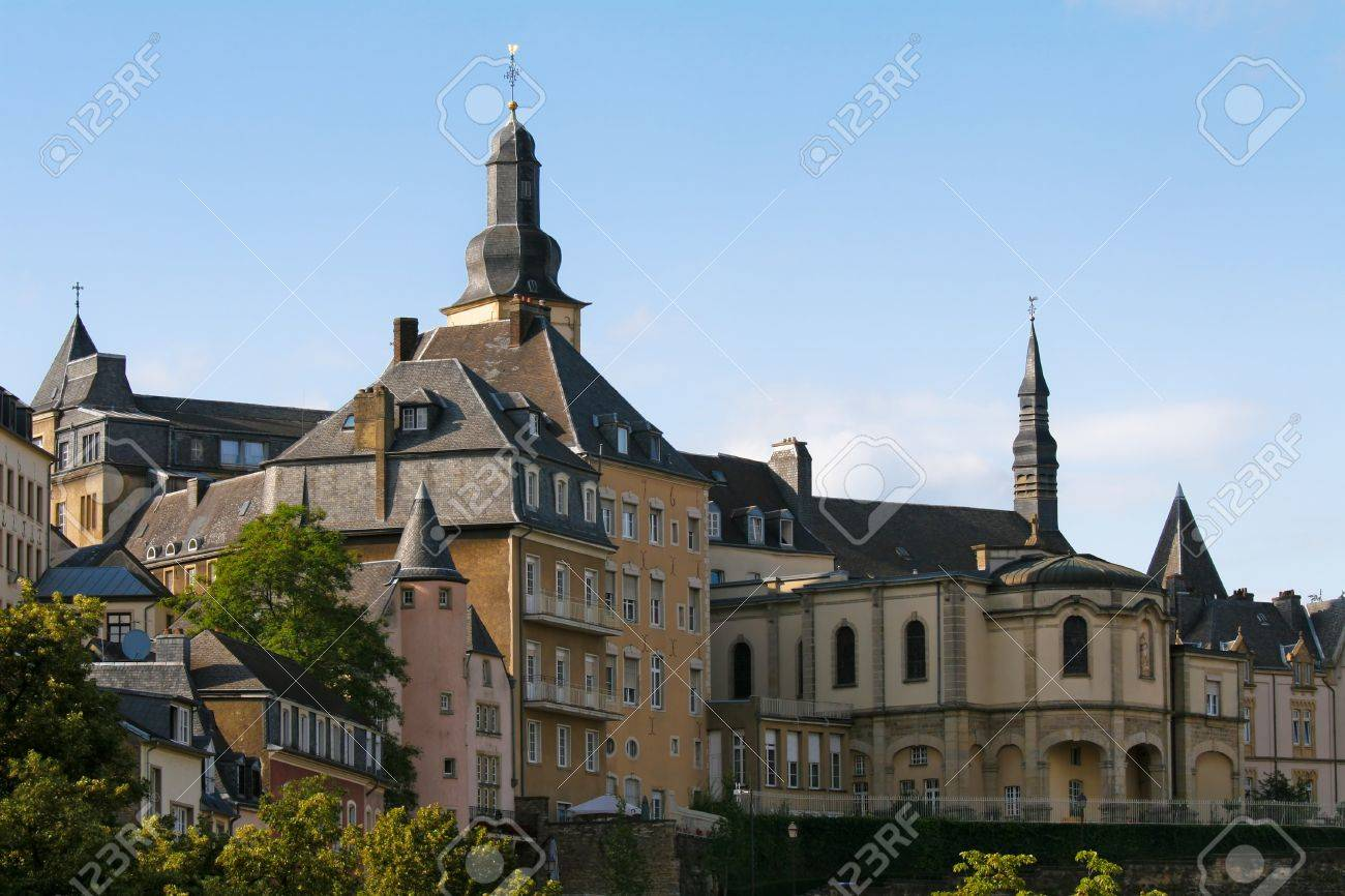 View on the old center of Luxembourg City - 8593282