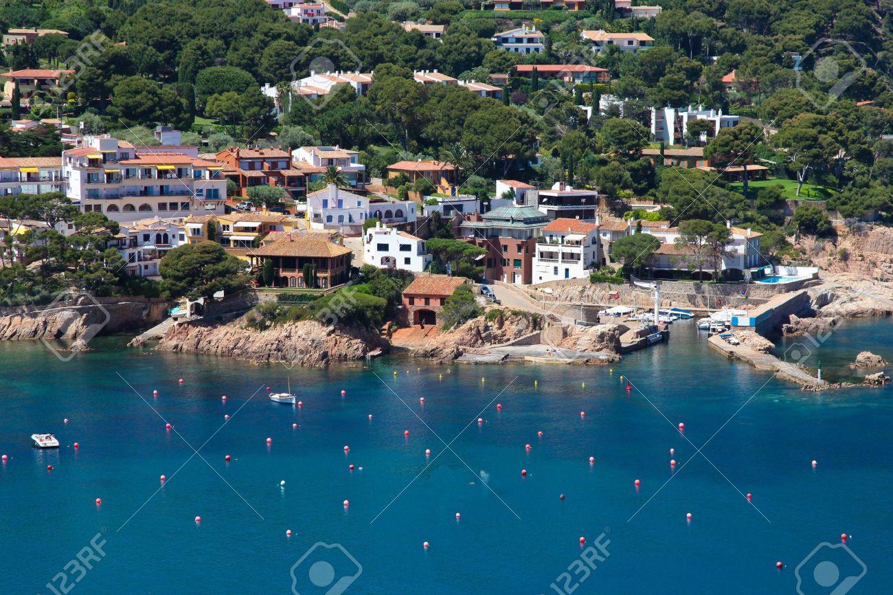 Aigua Blava is a small bay on the Costa Brava, Girona, Catalonia Spain near Begur and Palafrugell - 14594385
