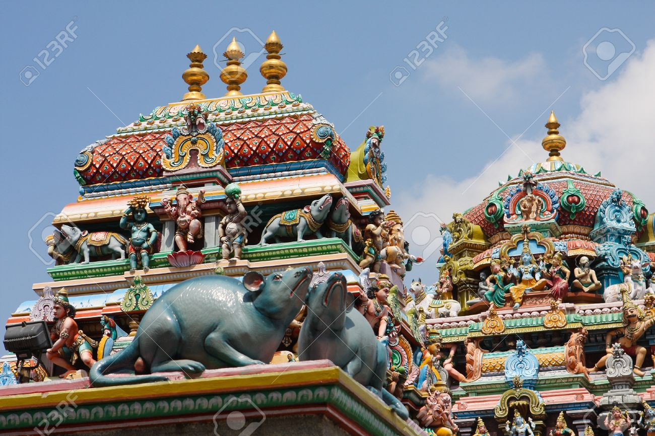 Kapaleeshwarar temple in Chennai, Tamil Nadu, India. This temple was created in the 7th Century, no property release is required. - 17581754