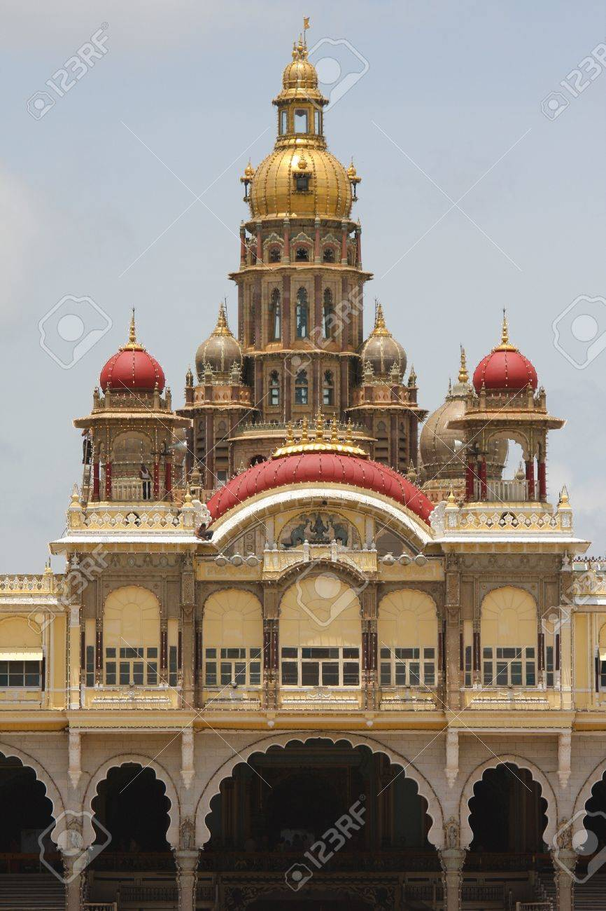 Palace of Mysore in India. This building was created more than 100 years ago, no property release is required. Stock Photo - 17585657