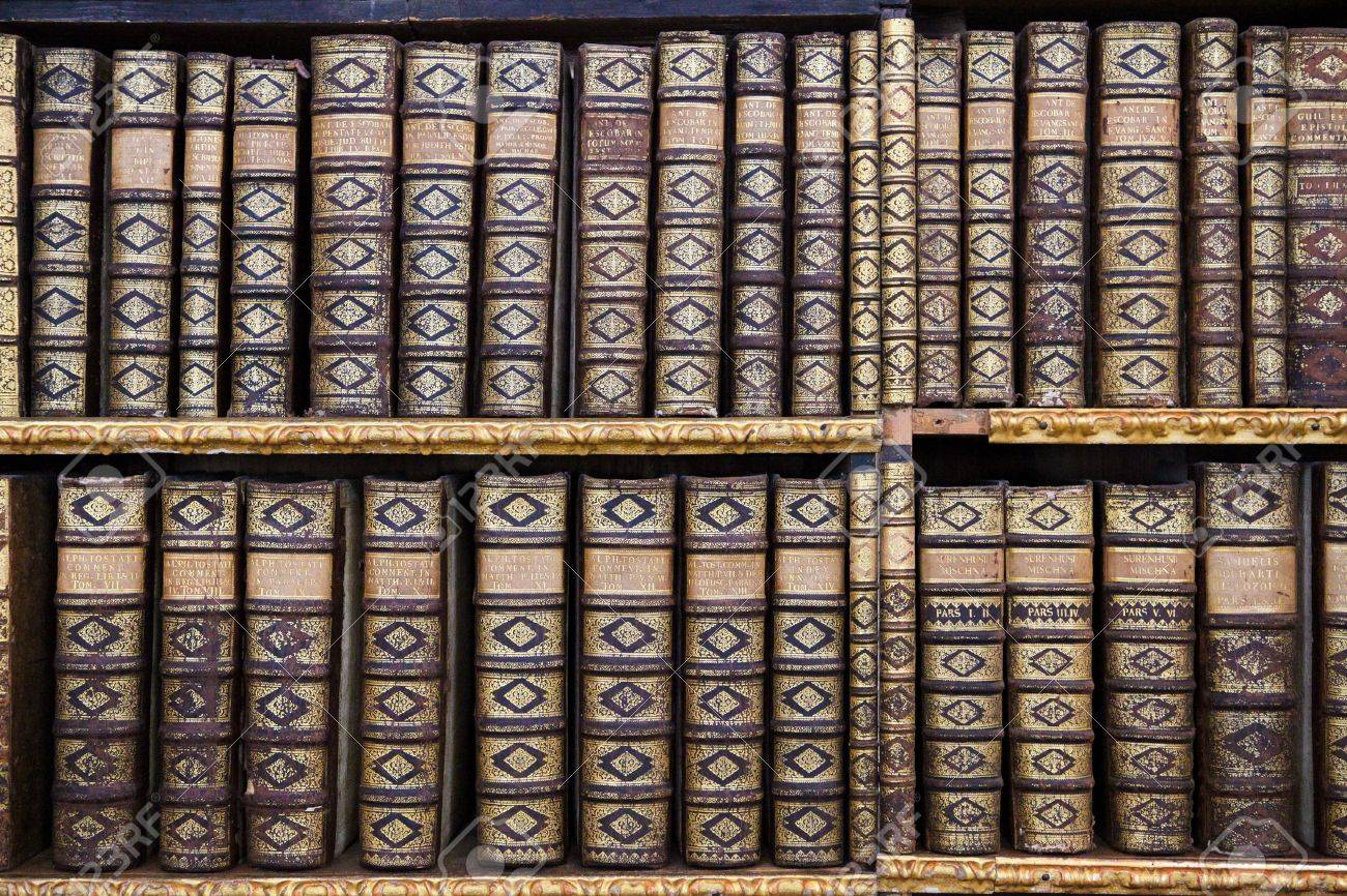 Old books in the Library of Stift Melk, Austria. All these books were created more than 200 years ago, no property release is required. Stock Photo - 19074312
