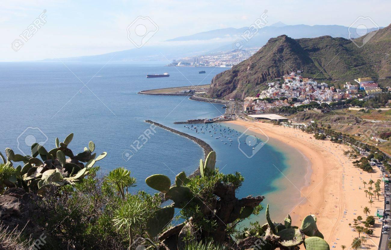 Playa de Las Teresitas, a famous beach near Santa Cruz de Tenerife in the north of Tenerife, Canary Islands, Spain - 19141944