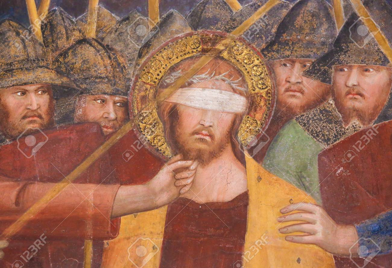 Image result for paintings of Jesus blindfolded