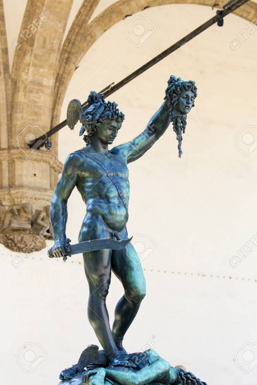 Perseus With The Head Of Medusa Is A Bronze Sculpture Made By