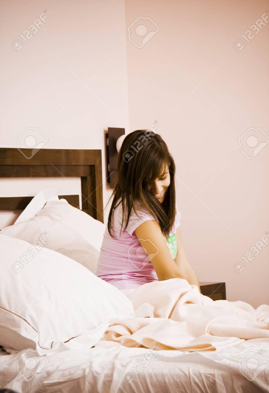 Sweet beautiful woman early in the morning Stock Photo - 3676647