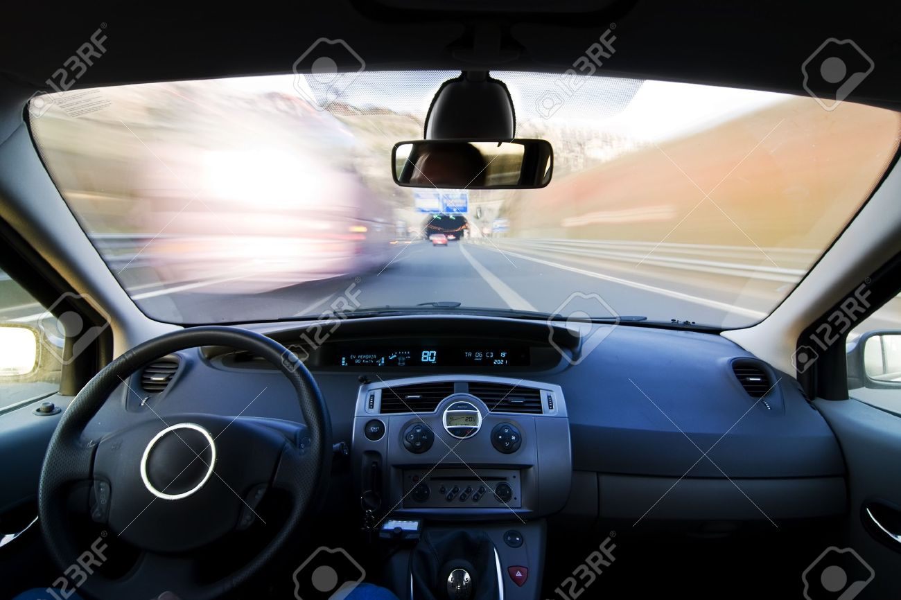 Inside Car View At High Speed Stock Photo Picture And Royalty Free Image Image 3993000