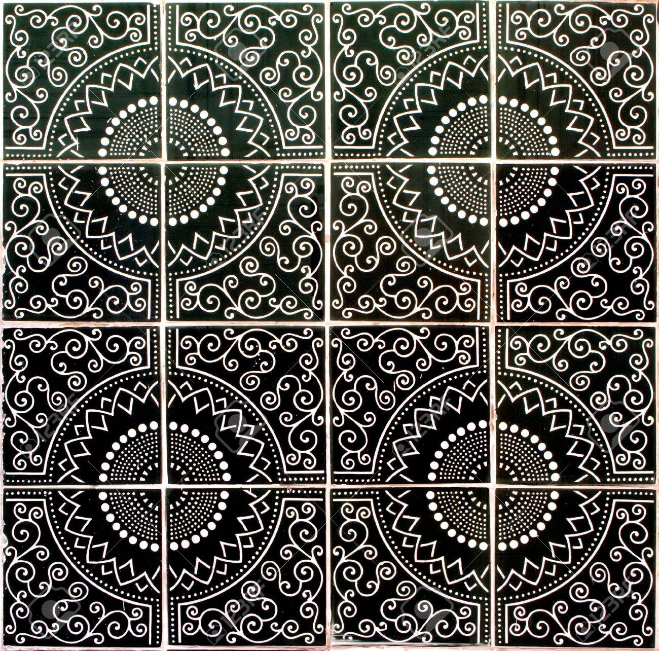 Ceramic Tiles Seamless Pattern Stock Photo, Picture And Royalty ...